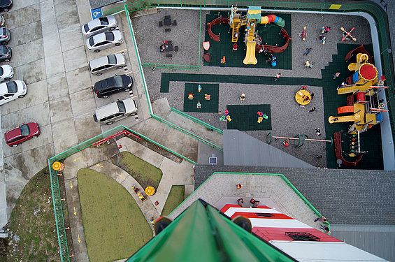 The children's playground from above