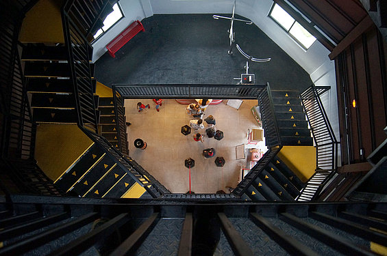 View from the inside of the lighthouse tower